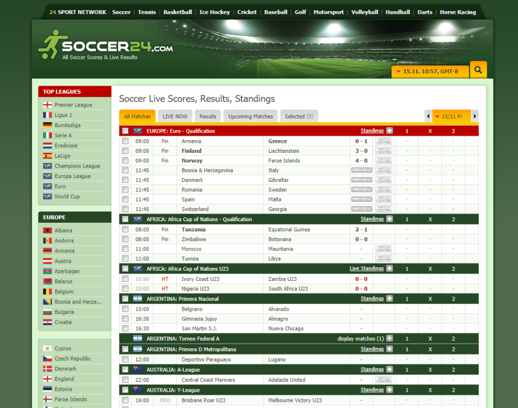 Top 5 Best Sites For Real Time Soccer Football Scores In 2020