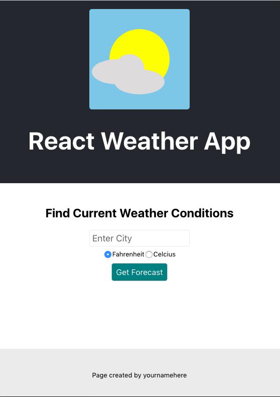 React Weather App