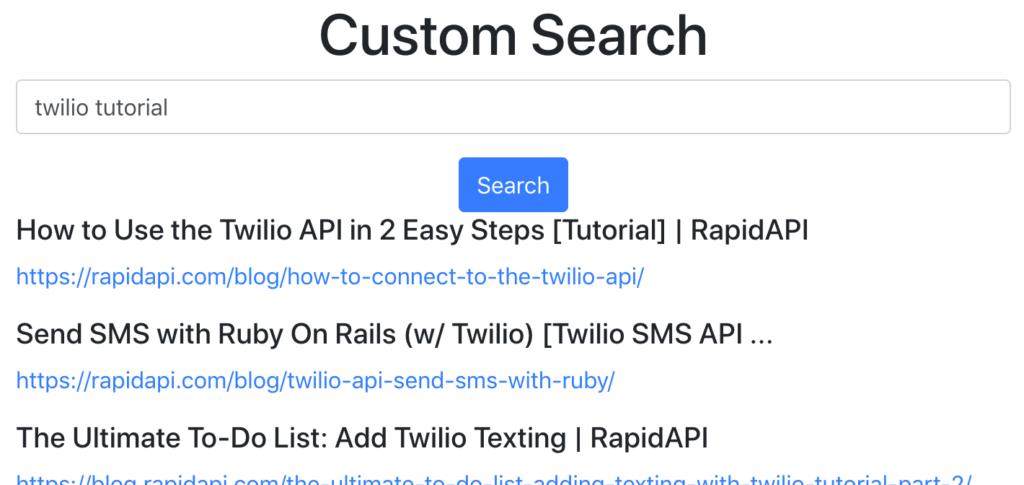 custom google search engine app