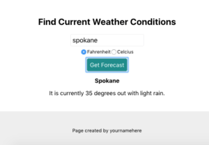 find current weather conditions css