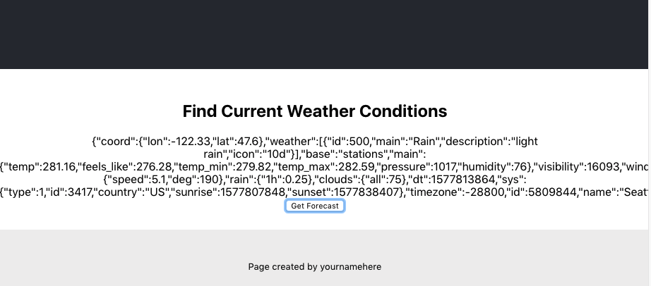 find current weather conditions