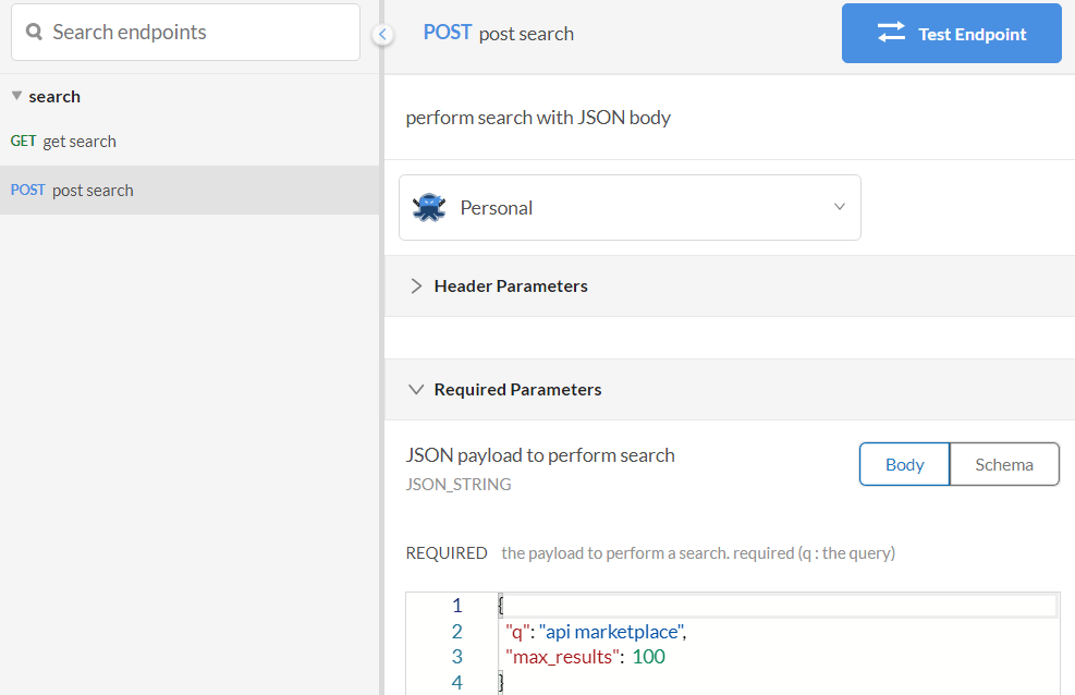google search api post search