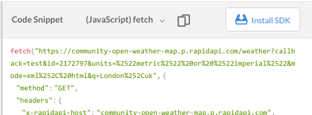openweathermap api javascript fetch