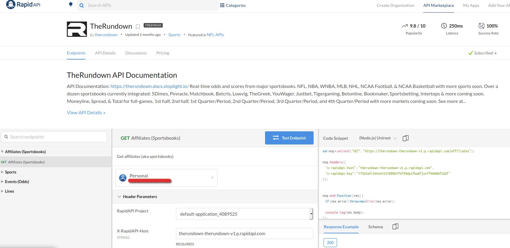 TheRundown API