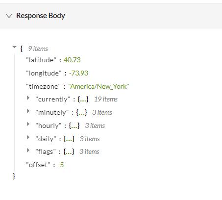 Dark-Sky-API-Response