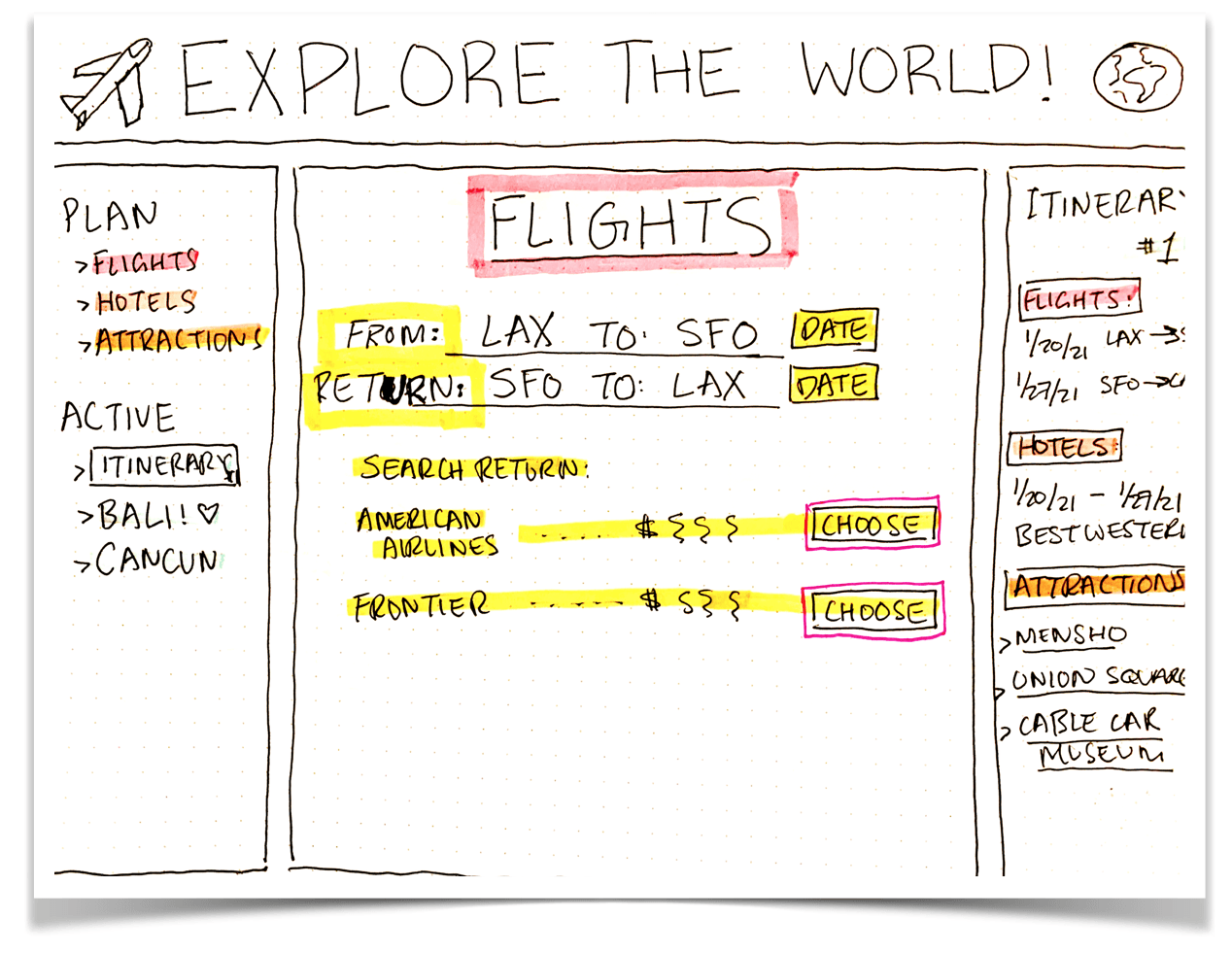 travel app draft with tripadvisor api
