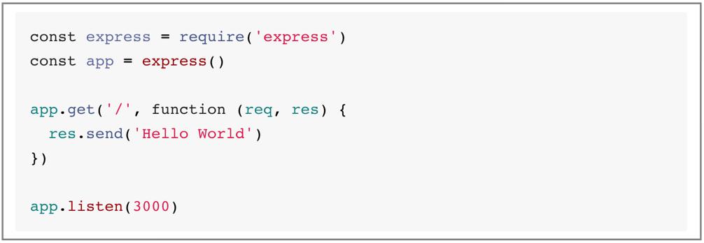 Code to set up an Express engine.