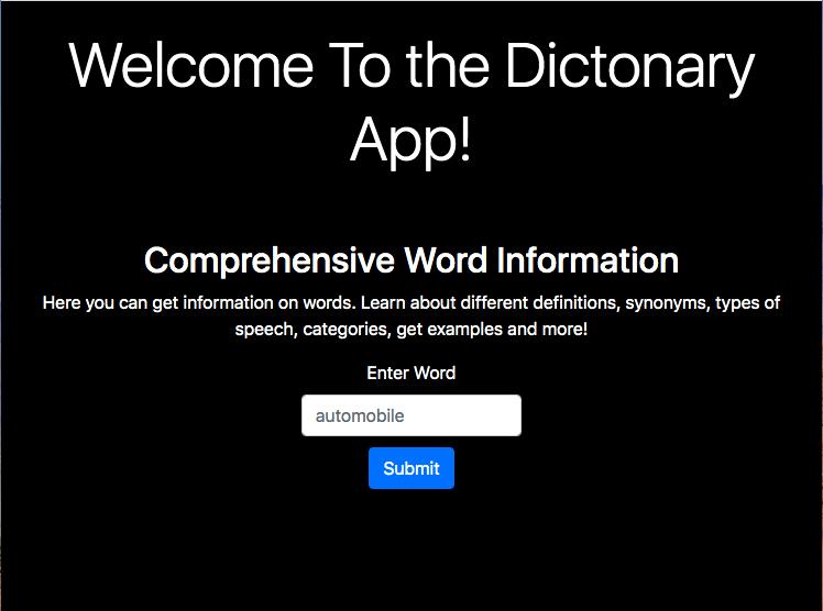Build a Dictionary App (WordsAPI) [JavaScript Dictionary API Tutorial]