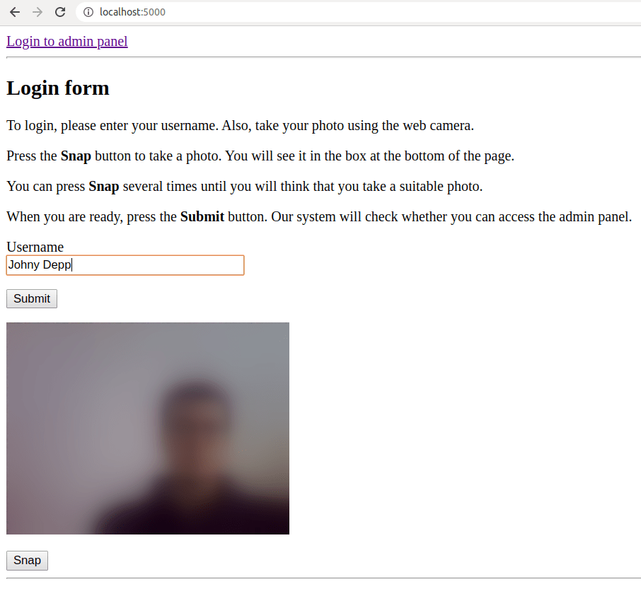 facial recognition app website