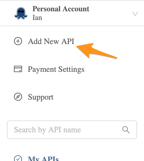 rapidapi add new api