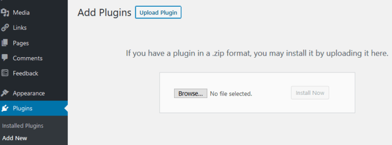 Add Plugin to WordPress