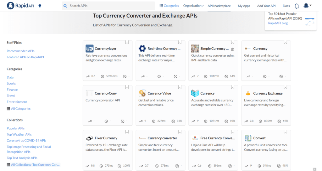 Currency API Collection
