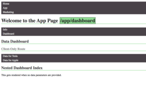 dashboard default component