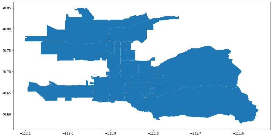 salt lake city boundaries plot