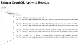 localhost:3000 with response object