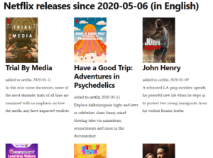 Netflix Latest Releases Page