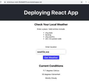 final azure deployment app