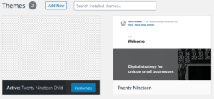 WordPress Child Theme without thumbnail