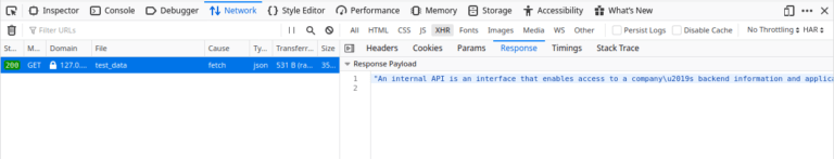 find api browser response