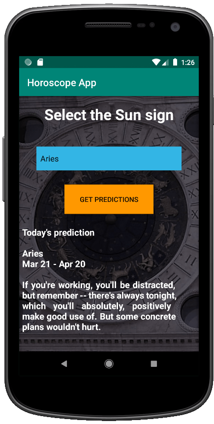 Horoscope App Screen