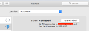 mac local IP address