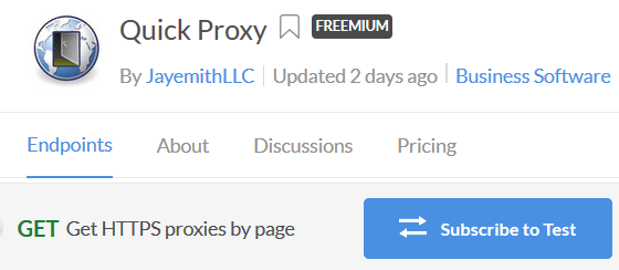 Subscribe to Proxy API