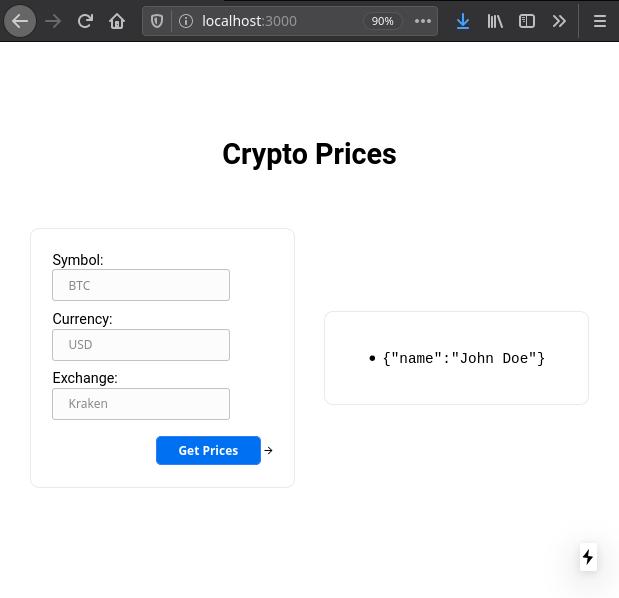 Form calls Hello API