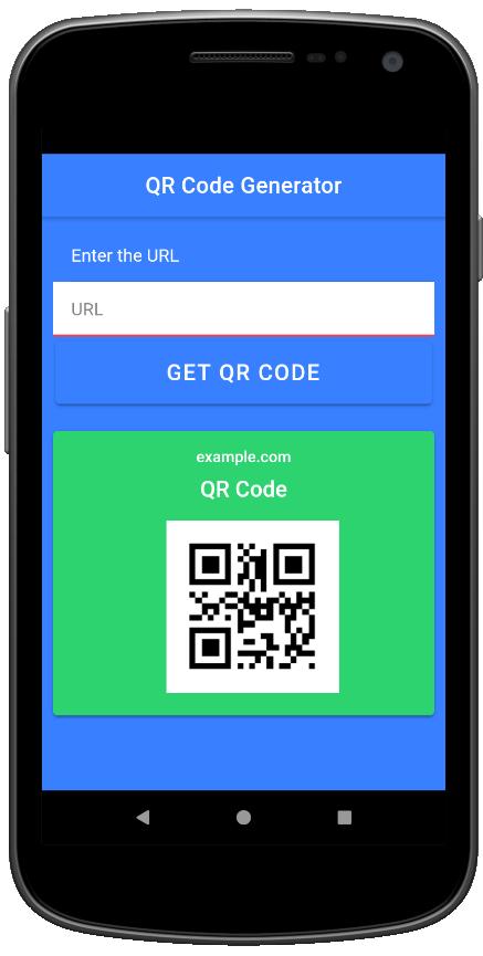 QR Code Generator App Screen