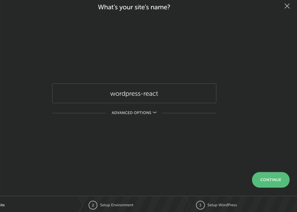 choose site name