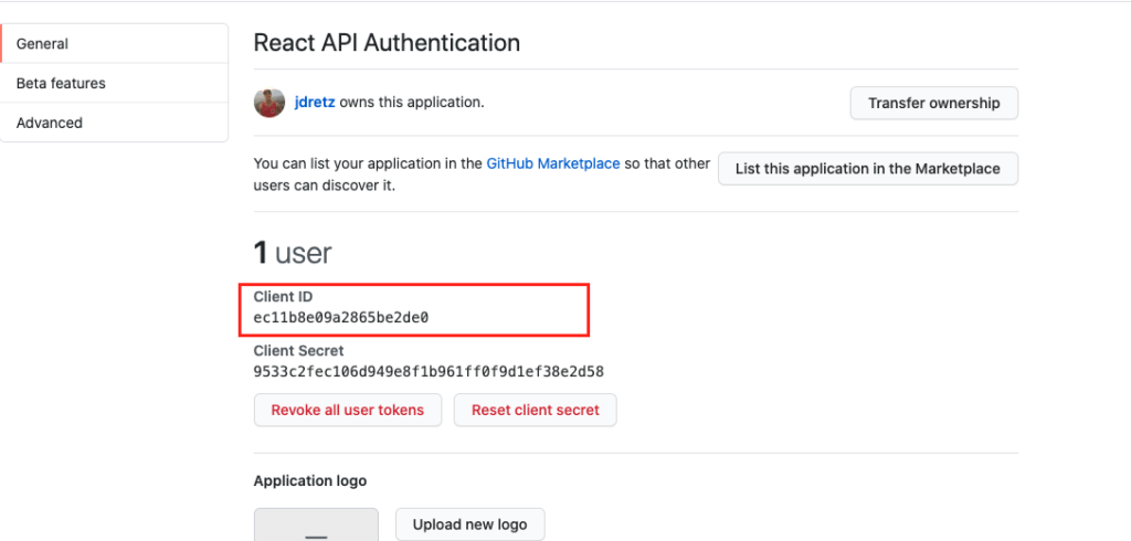 client id for github oauth