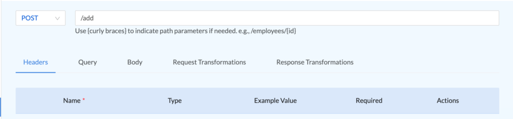 add user endpoint information