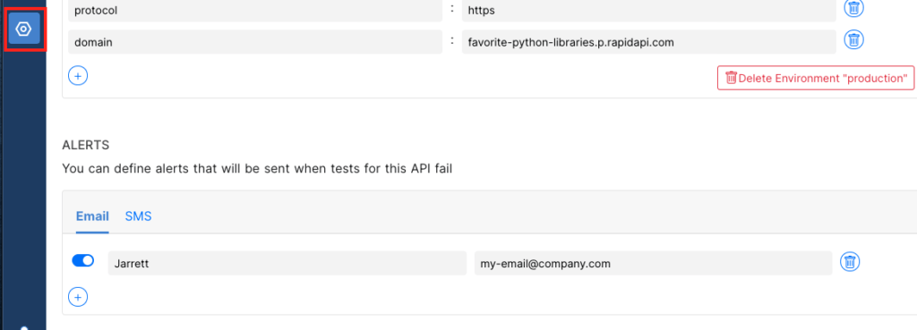 adding alerts for your API