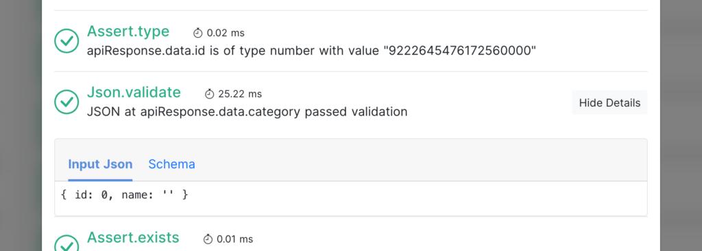 test details