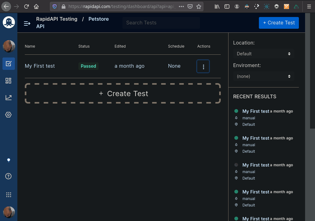 Petstore API Dashboard