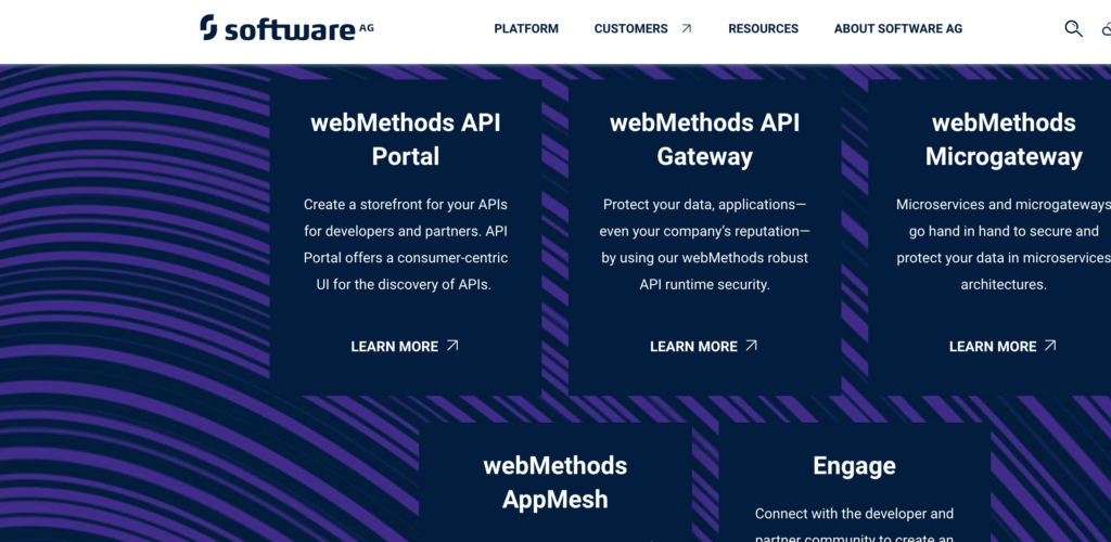 software ag feature list