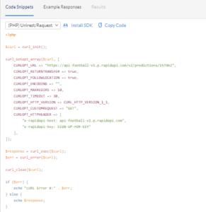 API Football Sample Code