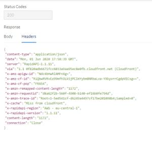 API Results