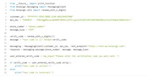 telesign code sample