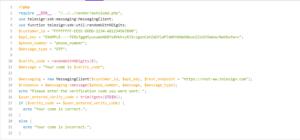 telesign install php