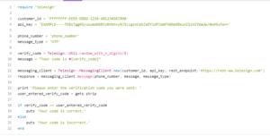 Telesign SMS Sample Code