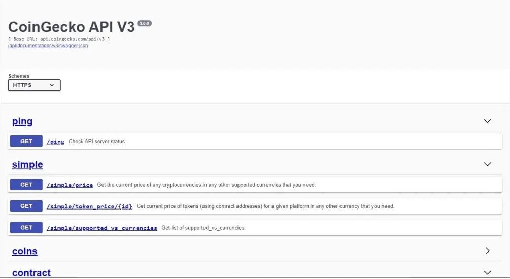 CoinGecko API