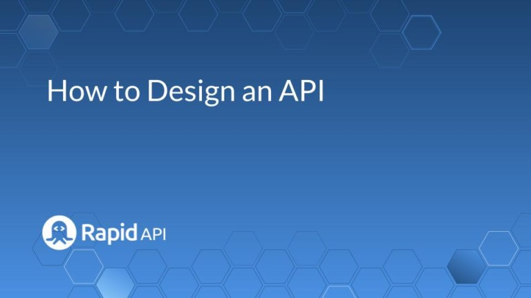 how to design an api