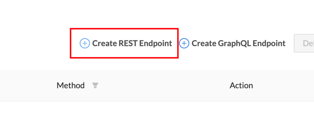 create rest endpoint