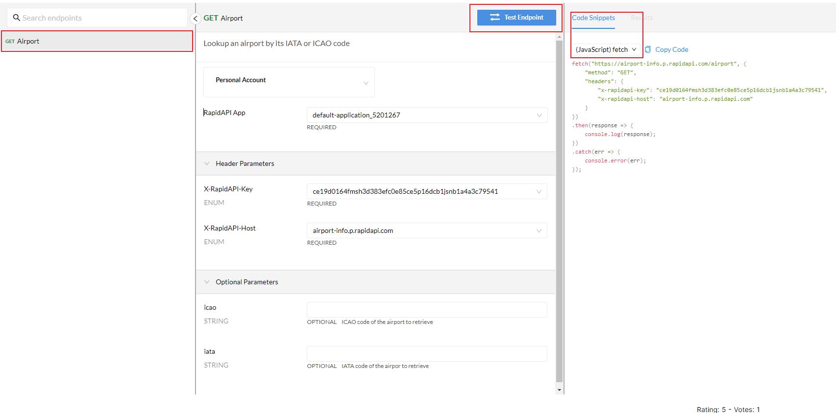 Airport Info API Testing