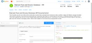Edamam Food and Grocery Database API
