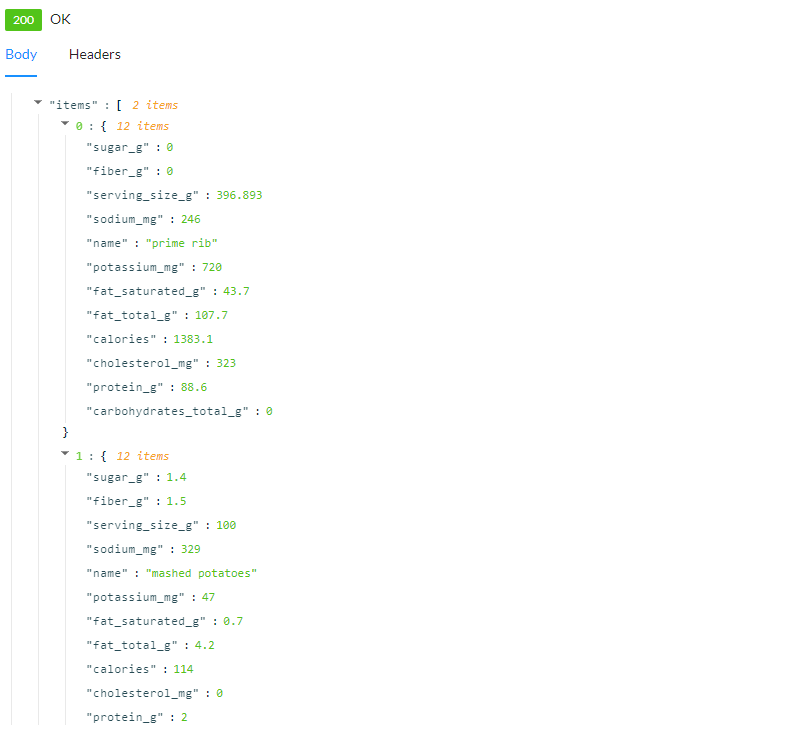 API Response Python