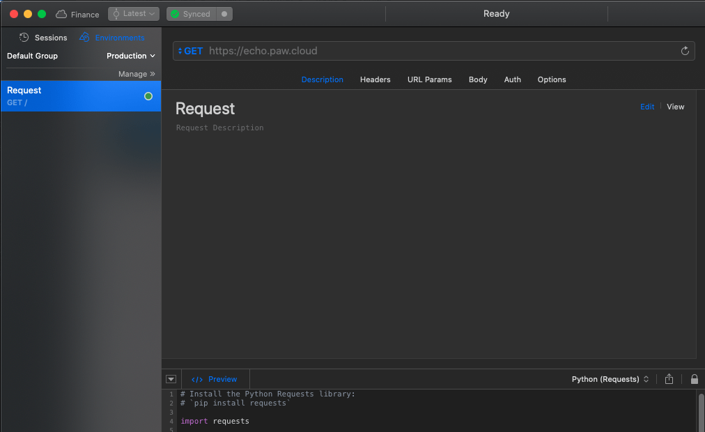paw desktop API client dashboard