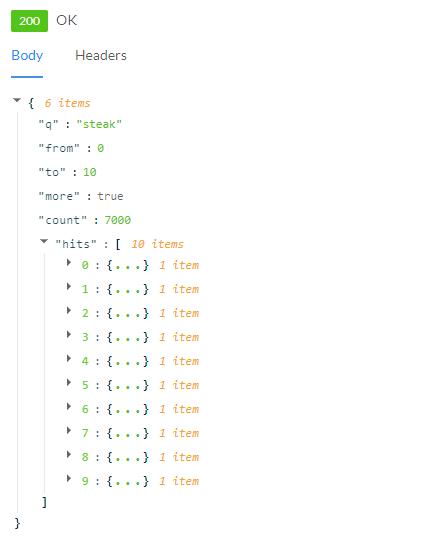 Python API Result