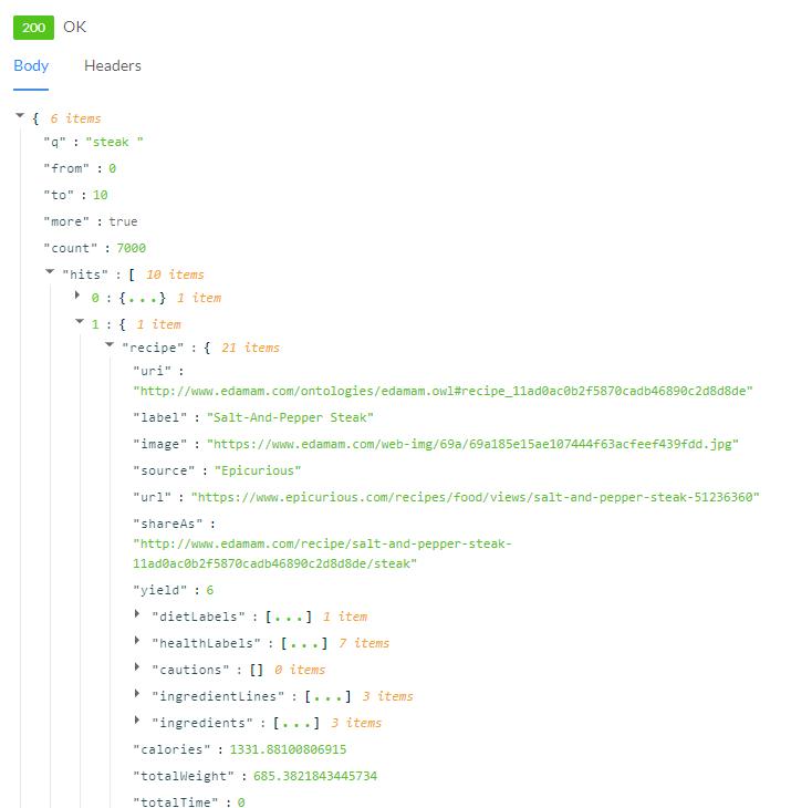 Javascript API Response