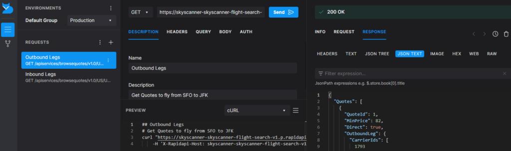 RapidAPI Client in Browser